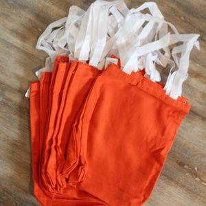 Oriental Trading Bags - One Dozen Orange Canvas Totes